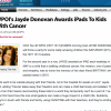 Jayde Awards iPads to Kids With Cancer